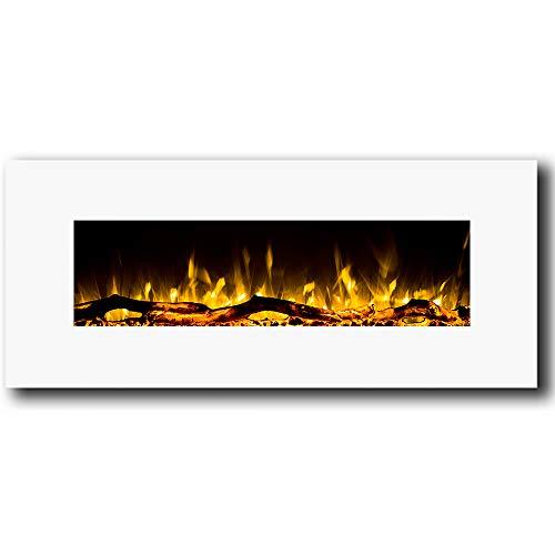 Regal Flame Ashford White 50' Log Ventless Heater Electric Wall Mounted...