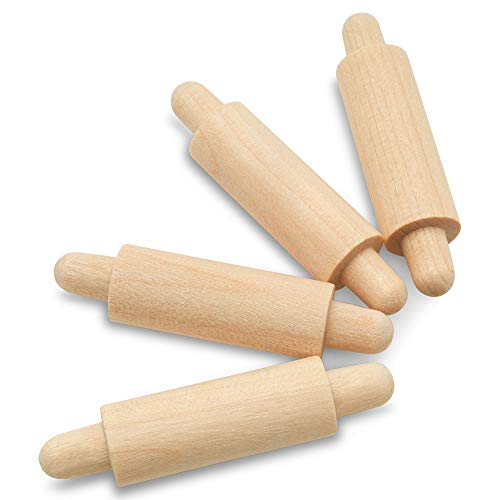 Wooden Mini Rolling Pin, 1-5/8 inches, Pack of 25, Perfect for Scrapbook Projects, Miniatures, Doll Houses and Crafts, by Woodpeckers