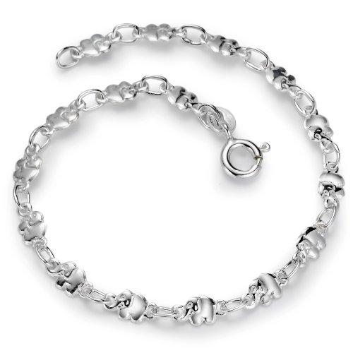 Armband Silber Elefant 17 cm, Länge (cm): 17 cm, Motiv: Elefant, Zielgruppe: surprise