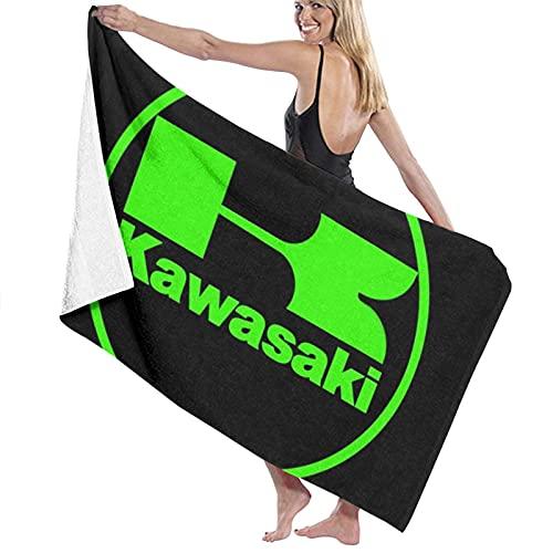 jhgfd7523 Kawasaki Moto Racing Toalla de playa Juego de toallas de baño baño Accesorios Toalla de piscina Toalla de viaje y baño 80 cm x 130 cm
