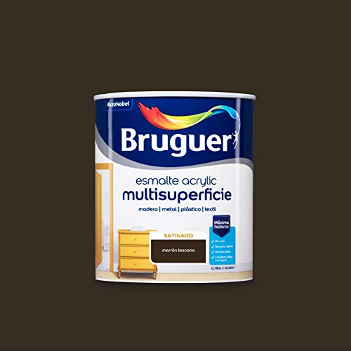 Bruguer Acrylic Multisuperficie Esmalte al agua Satinado Marrón Toscana 750 ml
