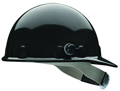 Fibre-Metal by Honeywell E2QRW11A000 Super Eight Ratchet Cap Style Hard Hat with Quick-Lok, Black