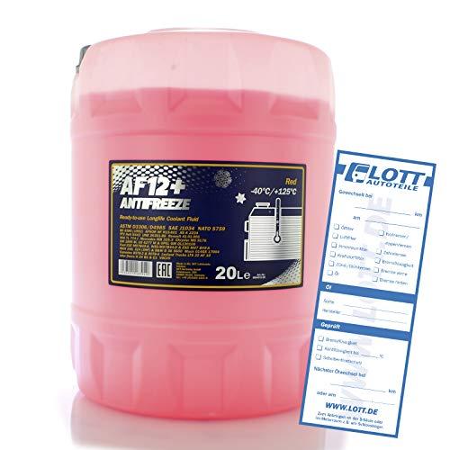 Mannol Kühlerfrostschutz AF12+ - 1x20 Liter rosa bis -40°C für G12+ Frostschutz