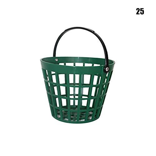 CLIUS Golf Range Körbe Ball Tragen Eimer Golfball Aufbewahrung Behälter mit Griff Für Außen Sport - Wie Bild Show, 25 Ball