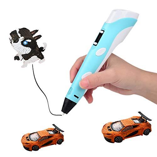 KEMOO 3D-Druckstift, 3D-Zeichenstift mit LCD-Bildschirm, 3D-Doodler Stift, kreatives DIY-Geschenk, beste Geschenke für Kinder, Erwachsene, Urlaub