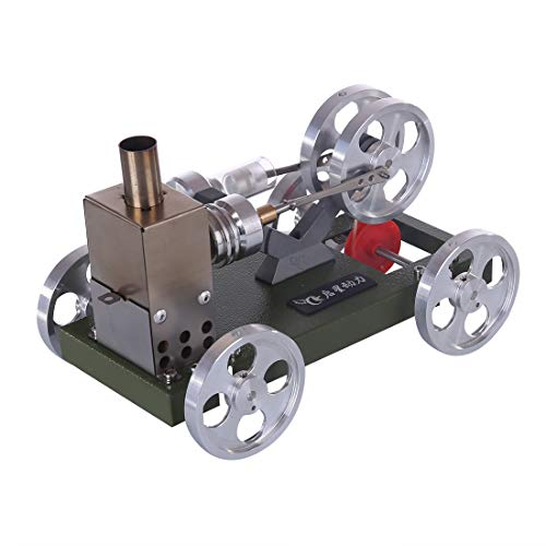 ReallyPow Stirling Engine Motor, Low Temperature Stirlingmotor Sterling Motoren Auto Modell, Lernspielzeug für Physik-Experimente