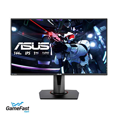 ASUS VG279Q 27' Full HD 1080p IPS 144Hz 1ms (MPRT) DP HDMI DVI Eye Care Gaming Monitor with FreeSync/Adaptive Sync (Renewed)