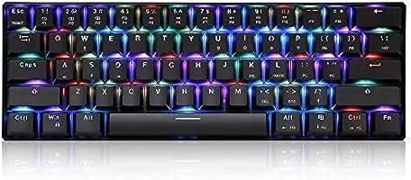 MOTOSPEED CK61 mechanisch toetsenbord voor games RGB blauwe schakelaar OUTMU toetsenbord 61 toetsen Anti-Efect Fantasma...
