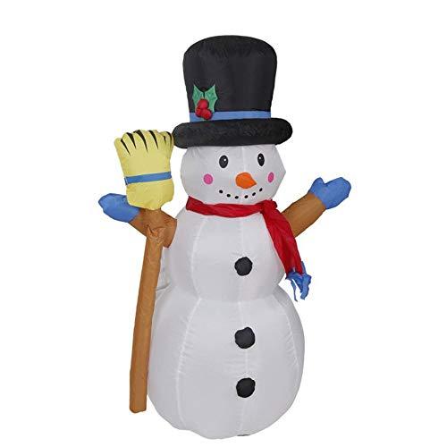 YANKAN Autogonfiante Natale E Decorazione di Natale Gonfiabile, Gonfiabile con Ventilatore E Luci LED, (Prendere Pupazzo Scopa Elettrica Muffa Gonfiabile Gas 1,2 M)