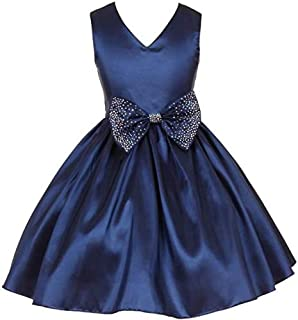 Pink Wings Girl's A-Line Knee Length Frock