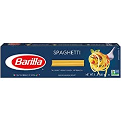 SPAGHETTI PASTA: Give BARILLA Blue Box Spaghetti a twirl! No doubt it's the most fun pasta to eat and its delicious texture will please the whole family BARILLA PASTA: Long, golden strands of pasta made with 100% durum wheat and purified water to del...