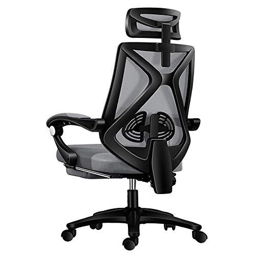 Preisvergleich Produktbild Hochwertiger Gaming Stuhl Bürostuhl Schreibtischstuhl,  Ergonomischer höhenverstellbar,  Computerstuhl Drehstuhl mit Einstellbaren Armlehnen Verstellbar,  mit Fußstütze