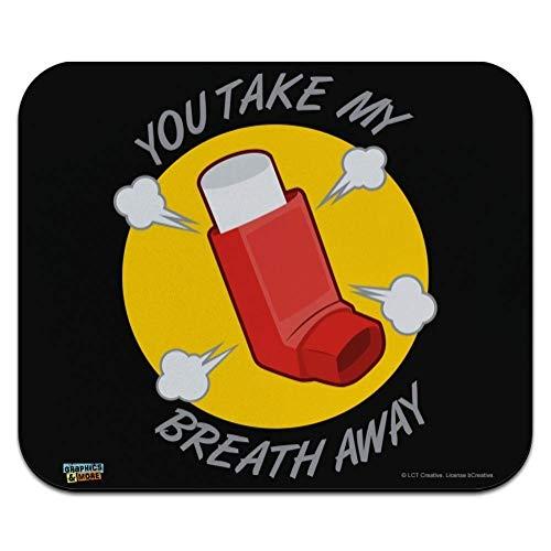 Sie Nehmen Mir Den Atem Weg Asthma Inhalator Lustiger Humor Laptop/Pc Maus Pad Rutschfestem Maus Mat Ultradünner Mauspad Für Office,Geschenk,Gaming,25X30Cm