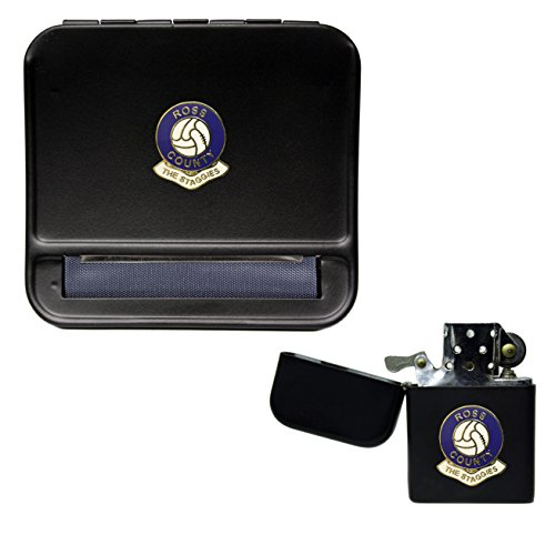 Ross County Football Club Cigarette Rolling Machine and storproof Petrol Lighter
