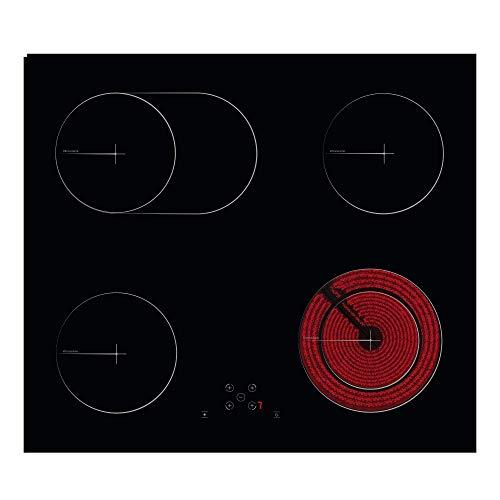 Simfer SMF-BIH 5118 VTC Elektro-Kochfeld | Autarkes Ceran-Kochfeld | 60 cm | 4 Kochfelder | Touch-Bedienung | Oval-Dual Zonen | Bräterzone | Kindersicherung | 2 Jahre Garantie