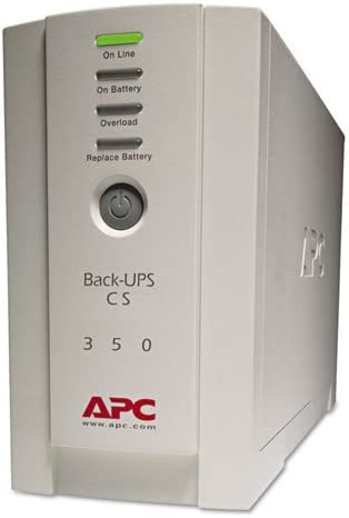 Back-UPS CS Battery Backup System Six-Outlet 350 Volt-Amps, Sold as 1 Each
