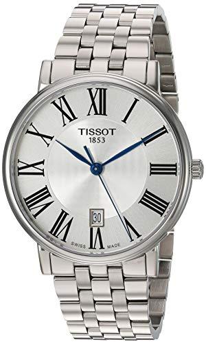 Tissot unisex-adult Carson Stainless Steel Dress Watch Grey T1224101103300