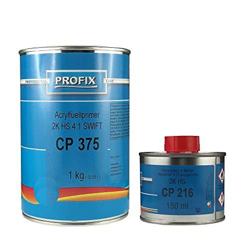 Ludwig Lacke PROFIX 1 kg Acryl Füller CP 375 2K HS 4:1 Swift mit passendem Härter CP 216 150 ml