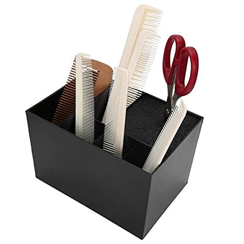 Regalo de julio ?????? ?? ??????? Porta tijeras, organizador de tijeras, estante de herramientas de peluquería de gran capacidad, para peines, cortapelos, peines, pinzas para el cabello