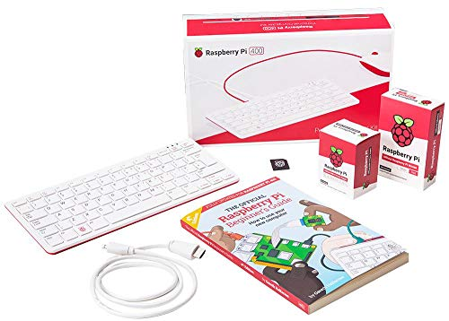 Raspberry Pi 400 4 GB Offizielles Start-Up-Kit mit UK-Layout