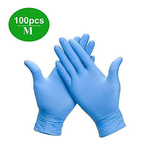 100PCS Einweg-Handabdeckungen, Blaue Nitril-Handabdeckungen, Für Lebensmittel, Staubfrei, Zum Basteln, Malen, Gartenarbeit, Kochen, Reinigen