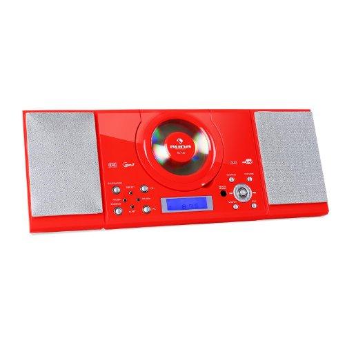 auna MC-120 - Cadena estéreo, Equipo Compacto, minicadena, Reproductor de CD con...
