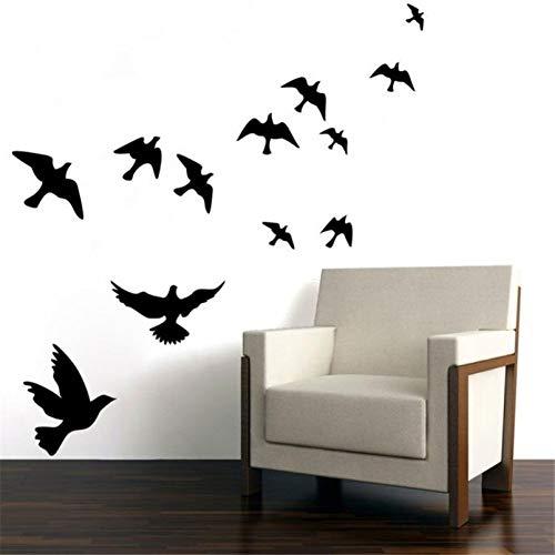 XCWQ Women'S Armband Wit Zwart Vogels Muurstickers Muursticker Verwijderbare Home Room Decor Diy Slaapkamer Woonkamer Decoratie Diy