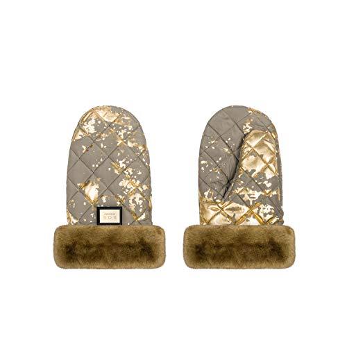 Bjällra Of Sweden Endlich! 8069912 - Guantes para carrito de bebé (120 g), color caqui y dorado
