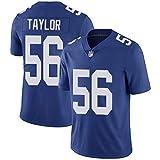 LAVATA Maglietta da Uomo Football Jersey New York Giants 56# Lawrence Taylor T-Shirt Sportiva A Maniche Corte in Jersey Sportivo