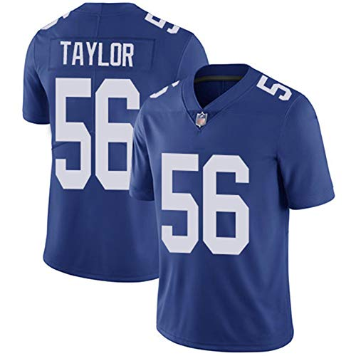 LAVATA Maglietta da Uomo NFL Football Jersey New York Giants 56# Lawrence Taylor T-Shirt Sportiva A Maniche Corte in Jersey Sportivo