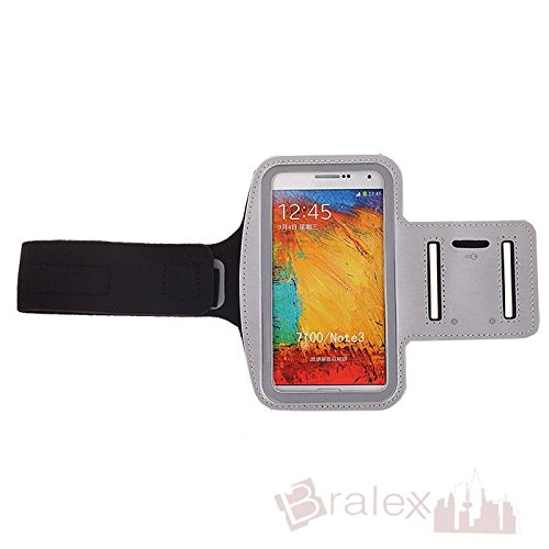 BRALEXX Sporttasche Armtasche Smartphonetasche passend für Haier Phone L53, Silber