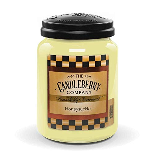 Candleberry Candles   Honeysuckle Candle   Best Candles on The Market   Hand Poured in The USA   Highly Scented & Long Lasting   Large Jar 26 oz.