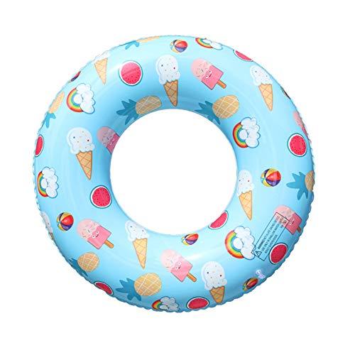 NHP Anillo de natación de Helado, Juguete de Juego de Agua para niños de PVC Grueso, Anillo de natación de Fruta Inflable(Color:B)