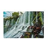 artboxONE Metall-Poster 20x30 cm Natur Iguazú Wasserfall