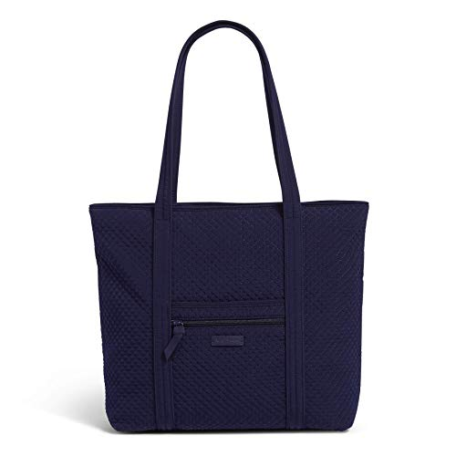 Vera Bradley Microfiber Vera Tote Bag, True Navy