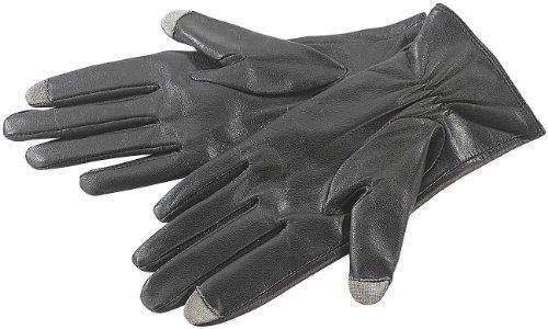 PEARL urban Lederhandschuhe: Touchscreen-Handschuhe, Ziegenleder, f. Herren, Gr. 8 (M) (Touchscreen Handschuhe Leder)