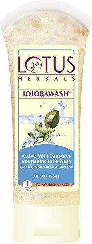 Lotus Herbals Jojoba Face Wash, Active Milli Capsules, 120g
