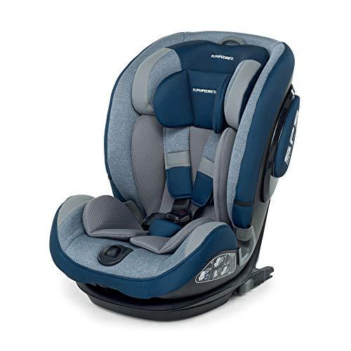 Foppapedretti Isoplus Seggiolino Auto Isofix e Dualfix Gruppo 1/2/3, 9-36 kg, per Bambini da 9 Mesi Fino a 12 Anni, Blu (Sky)