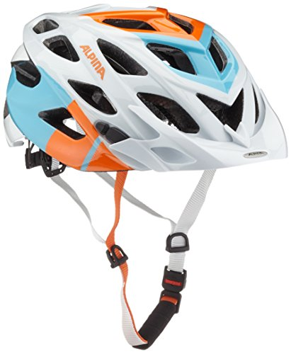 ALPINA Radhelm D-Alto, White-Orange-Blue, 57-61
