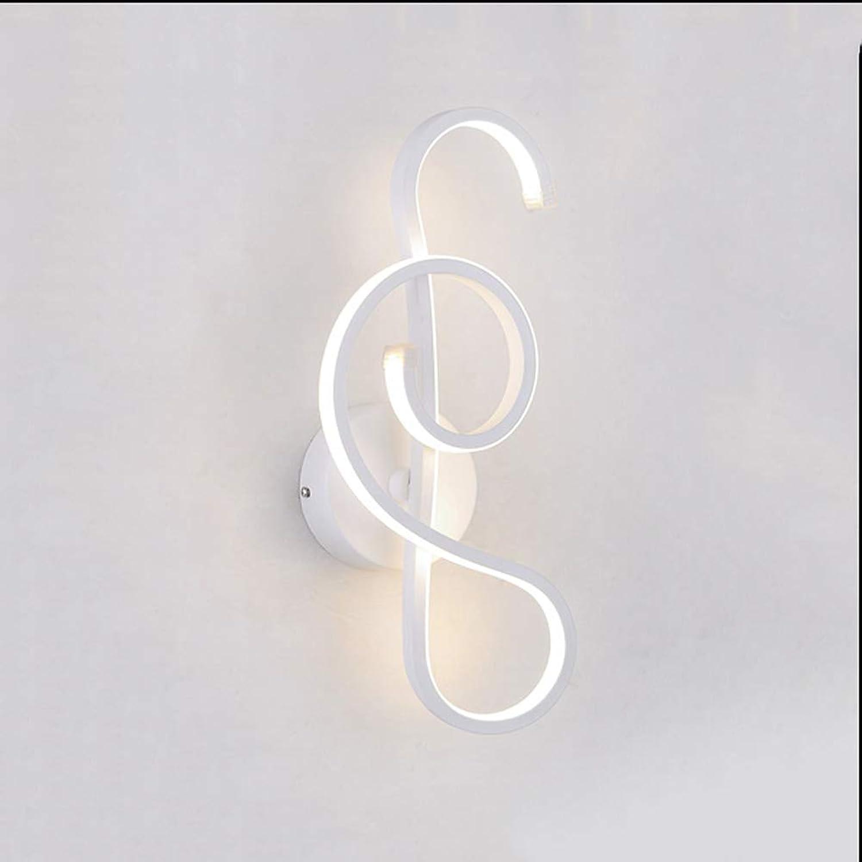 Oevina Mode Kreative LED Wandleuchte, Moderne Nachfrage Dekoration 12 Watt Wandleuchte Beleuchtung Korridor Coffee Shop Studie Schlafzimmer L5 H14 (Farbe   Weiß, Größe   26x13cm)
