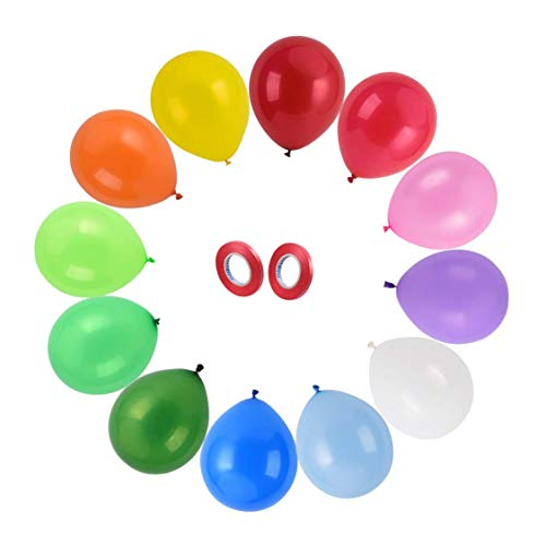120 Party Balloons in 12 Assorted colors 12inches Thickened latex balloons set Assorted Balloons Perfect for Party or Arch Decorations