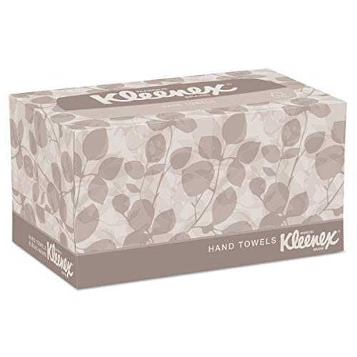 Kleenex Hand Towels with Premium Absorbency Pockets (01701), Hygienic Countertop Pop-Up Box, White, 120 Sheets / Carton, 18 Cartons / Case
