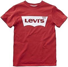 Levi's Camiseta Mangas Batwing para Niños Rojo