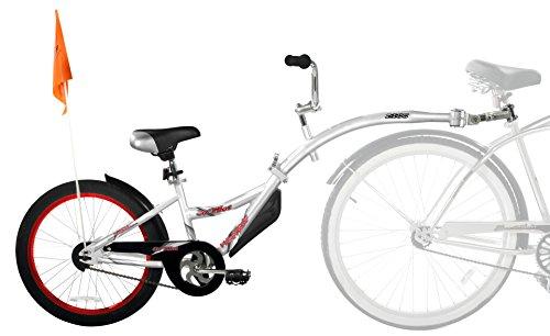 WeeRide Kids Co - Remolque de Bicicleta Infantil, tamaño 20, Color Plateado