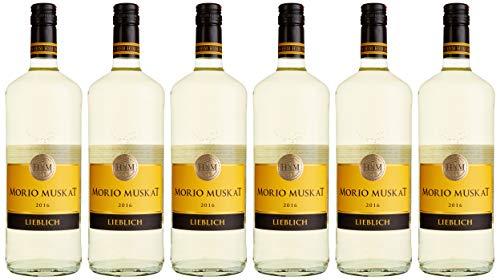 HXM Morio Muskat Lieblich Qualitätswein Rheinhessen Weißwein (6 x 1 l)