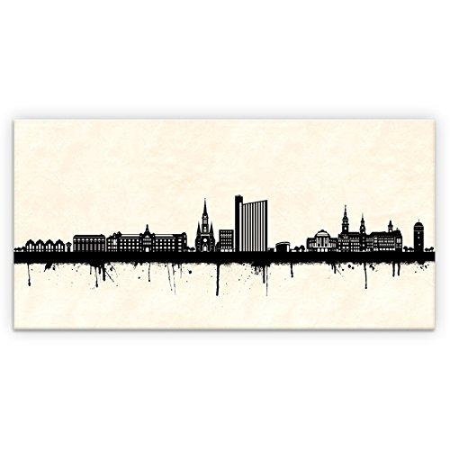 Kunstbruder Skyline Chemnitz SW (div. Größen) - Kunst Druck auf Leinwand 90x180cm