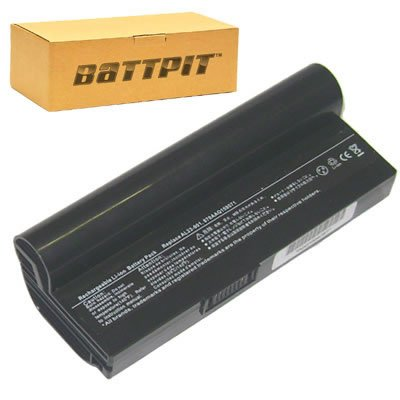Battpit Laptop Akku für Asus AL23-901 AL23-901H AL24-1000 AP23-901 PL23-901 Eee PC 901 904HA 904HD 1000H 1000HA 1000HD 1000HE - [6 Zellen/6600mAh/49Wh]