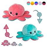 Lidy Bidy Stimmungs Oktopus Kuscheltier - 3 Größen - Tintenfisch zum Wenden - Spielzeugsicherheit getestet - Reversible Mood Octopus Plüschtier
