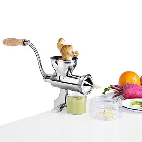 MinegRong Edelstahl Weizengras Juicer Manuelle Obst und Gemüse Weizen Samen Ingwer Granatapfel Presse Entsafter Manuelle Entsafter, Patent
