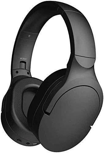 NCRD Auriculares de cancelación de Ruido, 5.0 inalámbricos sobre Auriculares Bluetooth, Plegado liviano, Audio de Alta resolución, Bajos Profundos, Tazas de Espuma de Memoria, para Viajes, Oficina en